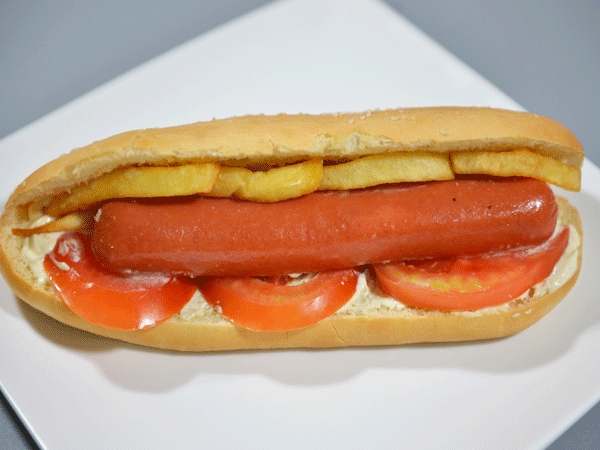 Sandwich hot dog